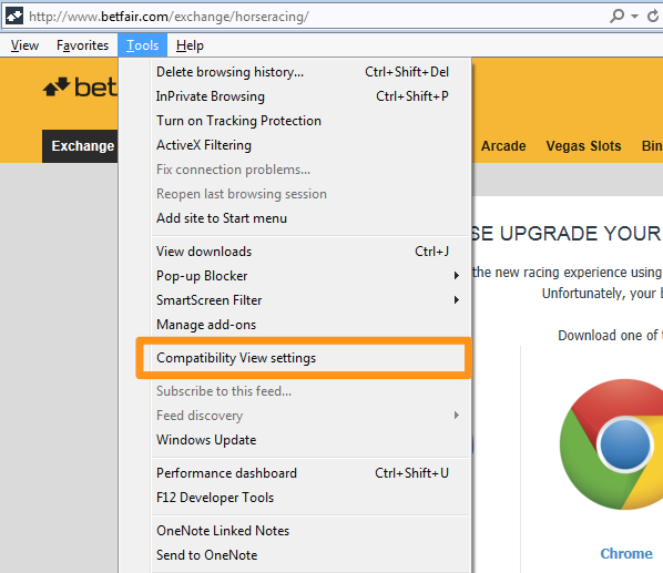 Exchange: Why am I being told to update my browser when I'm using the  latest version of Internet Explorer?